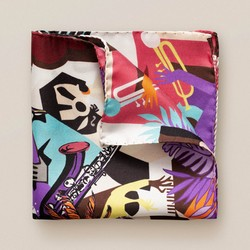 Eton Vibrant Music Pochet Pastel Rood