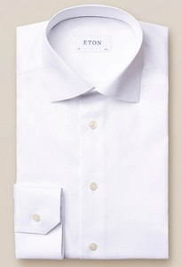 Eton With Love Embroidery Signature Twill Overhemd Wit