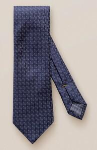 Eton Woven Fantasy Check Tie Navy