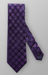 Eton Woven Fantasy Pattern Tie Purple