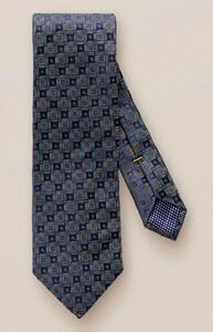 Eton Woven Fashion Check Tie Blue-Blue