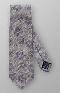 Eton Woven Floral Pattern Tie Grey-Blue