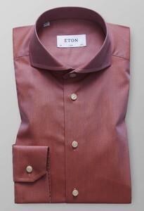 Eton Zig Zag Pattern Overhemd Oranje