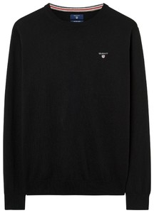 Gant Cotton Wool Pullover Zwart