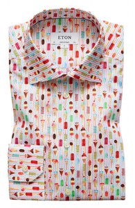 Eton Ice Cream Print Shirt Multicolor