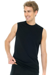 Schiesser Muscle Shirt 2Pack Black