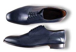 Roy Robson Derby Brogue Perforated Navy