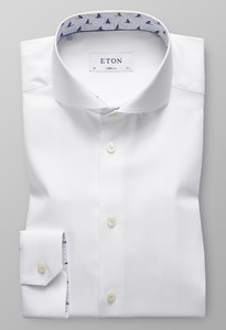 Eton Super Slim Sailboat Contrast Wit