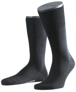 Falke Airport Sok Sokken Zwart
