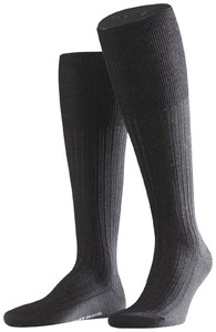 Falke Bristol Pure Kniekous Knee-Highs Anthracite Grey