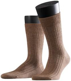 Falke Bristol Pure Socks Sokken Donker Zand