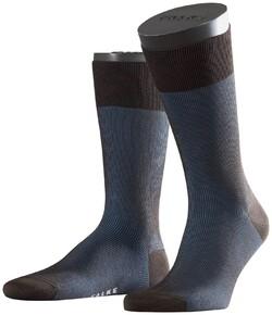 Falke Fine Shadow Sok Socks Blue-Brown