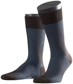 Falke Fine Shadow Sok Sokken Blauw-Bruin