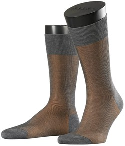Falke Fine Shadow Sok Sokken Dark Grey Melange