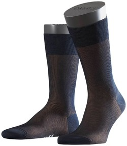 Falke Fine Shadow Sok Sokken Navy-Bruin