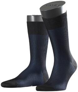Falke Fine Shadow Sok Sokken Zwart-Blauw