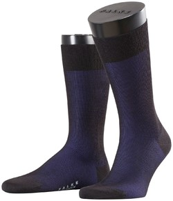 Falke Fine Shadow Wool Socks Black-Blue