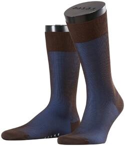 Falke Fine Shadow Wool Sokken Blauw-Bruin