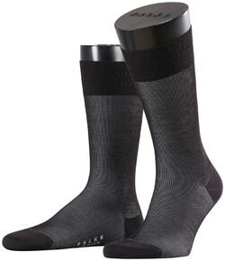Falke Fine Shadow Wool Sokken Zwart