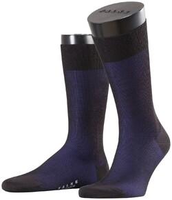 Falke Fine Shadow Wool Sokken Zwart-Blauw