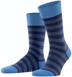 Falke Mapped Line Socks Ocean Blue