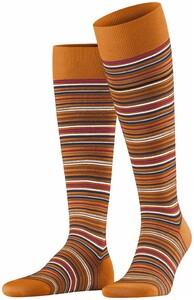 Falke Microblock Stripe Knee-Highs Mandarin Melange
