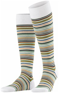 Falke Microblock Stripe Knee-Highs Off White