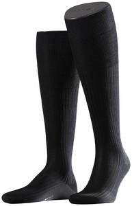 Falke No. 10 Egyptian Karnak Cotton Kniekous Knee-Highs Black