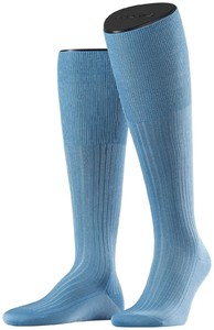 Falke No. 10 Egyptian Karnak Cotton Kniekous Knee-Highs Blue