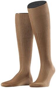 Falke No. 10 Egyptian Karnak Cotton Kniekous Knee-Highs Brownie Melange