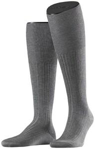 Falke No. 10 Egyptian Karnak Cotton Kniekous Knee-Highs Grey