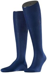 Falke No. 10 Egyptian Karnak Cotton Kniekous Knee-Highs Royal Blue