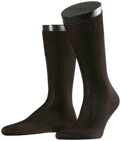 Falke No. 10 Socks Egyptian Karnak Cotton Socks Brown