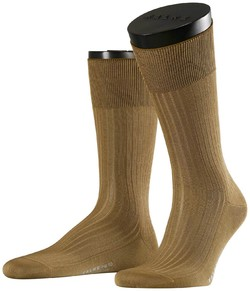 Falke No. 10 Socks Egyptian Karnak Cotton Sokken Donker Khaki