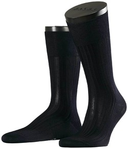 Falke No. 10 Socks Egyptian Karnak Cotton Sokken Navy