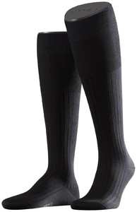 Falke No. 13 Finest Piuma Cotton Knee High Knee-Highs Black