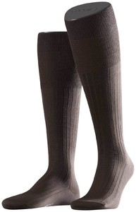 Falke No. 13 Finest Piuma Cotton Knee High Knee-Highs Brown