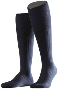Falke No. 13 Finest Piuma Cotton Knee High Knee-Highs Navy