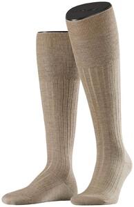 Falke No. 2 Finest Cashmere Kniekousen Knee-Highs Extra Dark Sand Melange