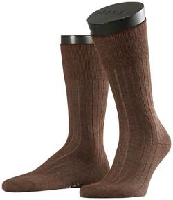 Falke No. 2 Socks Finest Cashmere Socks Teak Melange