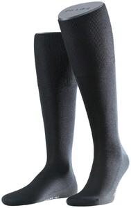 Falke No. 6 Finest Merino and Silk Kniekous Knee-Highs Black