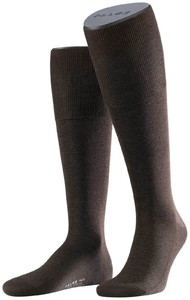 Falke No. 6 Finest Merino and Silk Kniekous Knee-Highs Brown