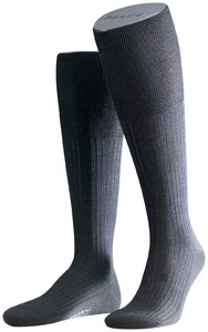 Falke No. 7 Finest Merino Kniekousen Knee-Highs Anthracite Grey