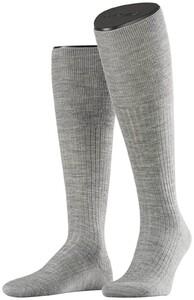 Falke No. 7 Finest Merino Kniekousen Knee-Highs Extra Light Grey Melange