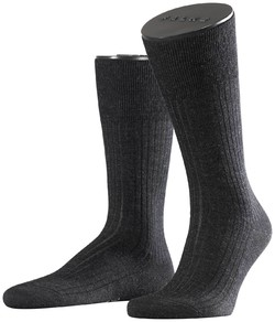 Falke No. 7 Socks Finest Merino Socks Anthracite Grey