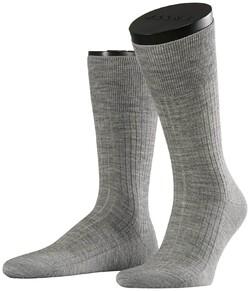 Falke No. 7 Socks Finest Merino Socks Extra Light Grey Melange
