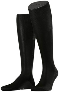 Falke No. 9 Egyptian Karnak Cotton Kniekous Knee-Highs Black