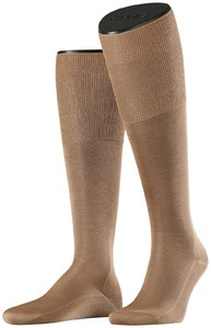Falke No. 9 Egyptian Karnak Cotton Kniekous Knee-Highs Brownie Melange