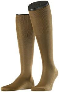 Falke No. 9 Egyptian Karnak Cotton Kniekous Knee-Highs Dark Khaki