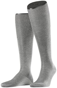 Falke No. 9 Egyptian Karnak Cotton Kniekous Knee-Highs Grey
